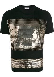 Yves Saint Laurent sequin striped T-shirt