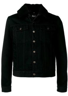 Yves Saint Laurent shearling denim jacket