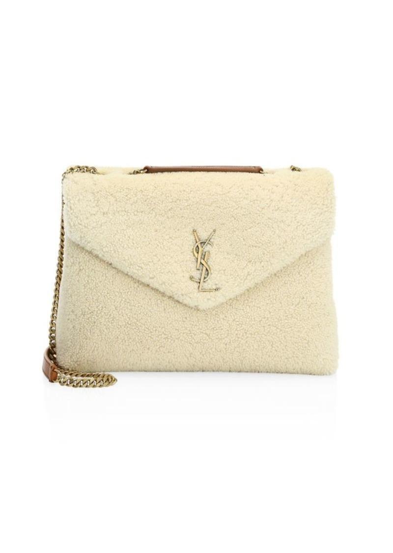 995b31c06aa5 Saint Laurent Lou Lou Shearling Shoulder Bag