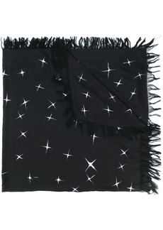 Yves Saint Laurent shooting star print scarf