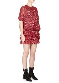 Saint Laurent Silk Georgette Blouson Dress