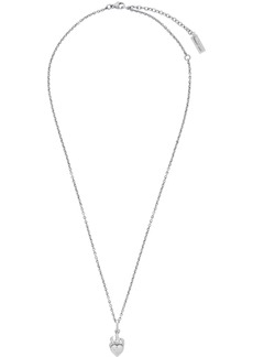 Yves Saint Laurent Silver Heart In Flames Necklace