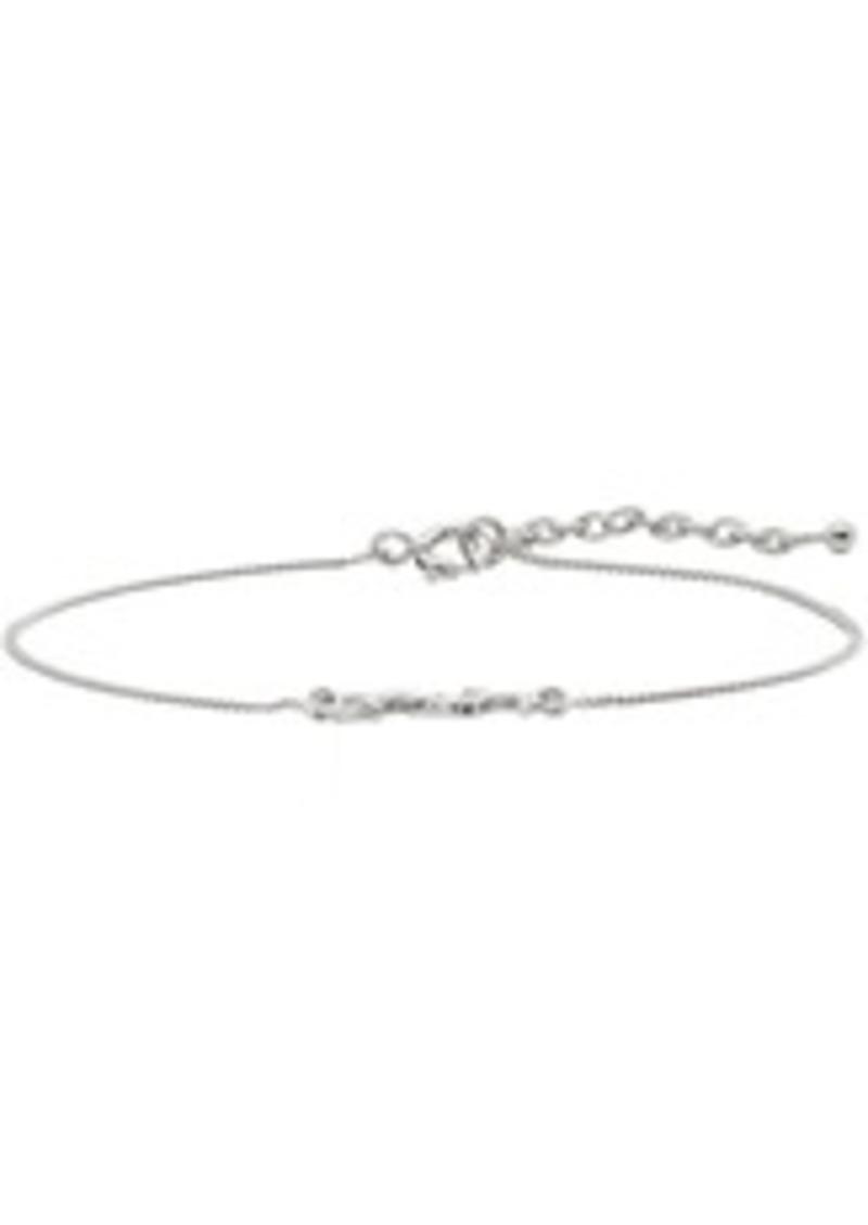 Yves Saint Laurent Silver Monogram Bracelet