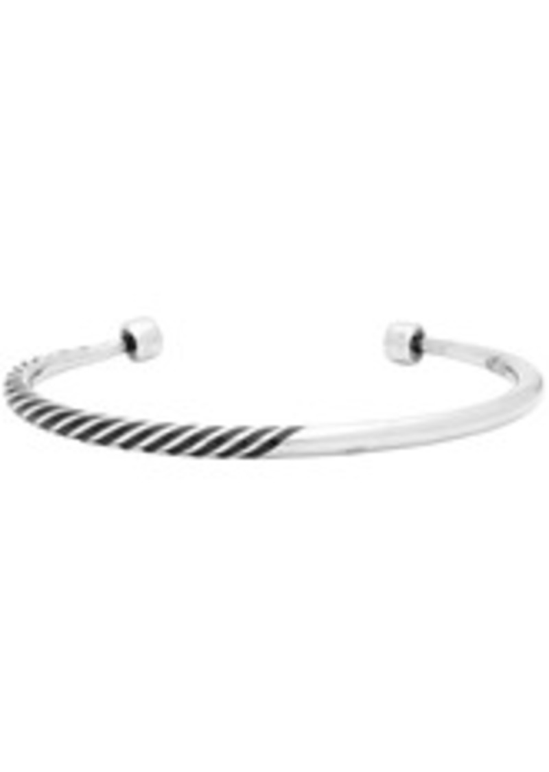 Yves Saint Laurent Silver Tribal Half-Twisted Bracelet