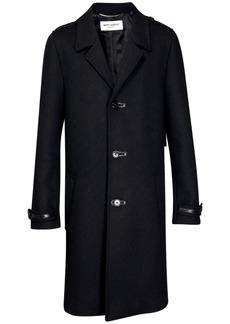 Yves Saint Laurent Single Breast Wool Coat
