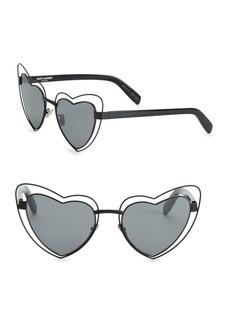 Yves Saint Laurent SL 197 57MM Lou Lou Heart-Shaped Sunglasses