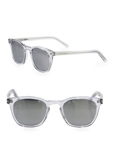 SL 28 49MM Mirrored Square Sunglasses