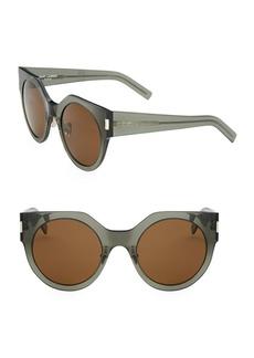 Yves Saint Laurent Slim 52MM Round Sunglasses