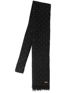 Yves Saint Laurent Small Studded Wool Tie