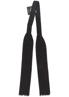 Yves Saint Laurent spotted bow tie