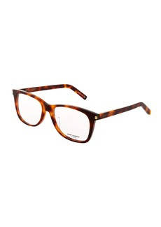 Yves Saint Laurent Square Acetate Havana Optical Glasses
