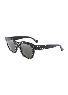 Yves Saint Laurent Square Plastic Studded Sunglasses