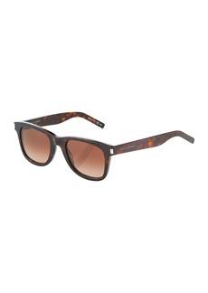 Yves Saint Laurent Square Plastic Sunglasses