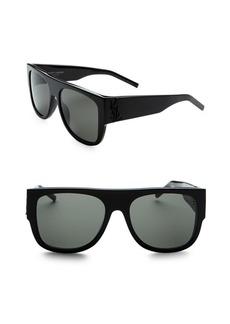 Yves Saint Laurent Squared Flat Top Sunglasses