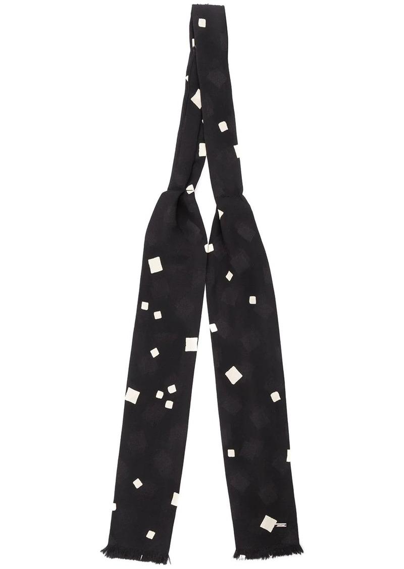 Yves Saint Laurent start print bow tie