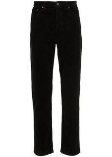 Yves Saint Laurent straight-leg corduroy trousers