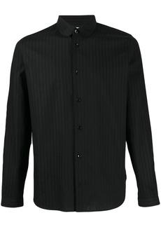 Yves Saint Laurent striped curved collar shirt