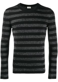 Yves Saint Laurent striped glitter knitted top