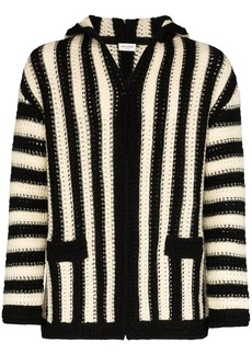 Yves Saint Laurent striped hooded cardigan