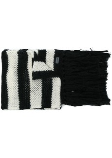 Yves Saint Laurent striped scarf