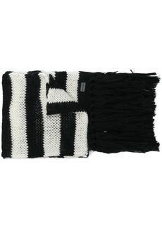 Yves Saint Laurent striped scarf