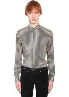 Yves Saint Laurent Striped Viscose Shirt
