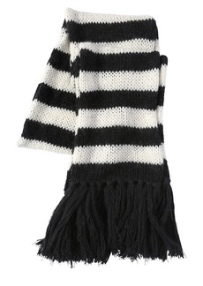 Yves Saint Laurent Striped Wool & Mohair Blend Knit Scarf