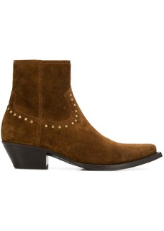 Yves Saint Laurent Lukas stud detail ankle boots