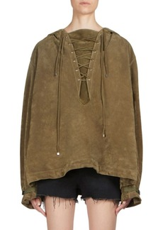 Yves Saint Laurent Suede Lace-Up Pullover