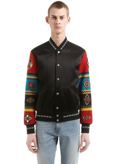 Yves Saint Laurent Teddy Jacket W/ Embroidered Sleeves