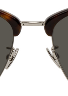 Yves Saint Laurent Tortoiseshell & Silver SL 340 Sunglasses