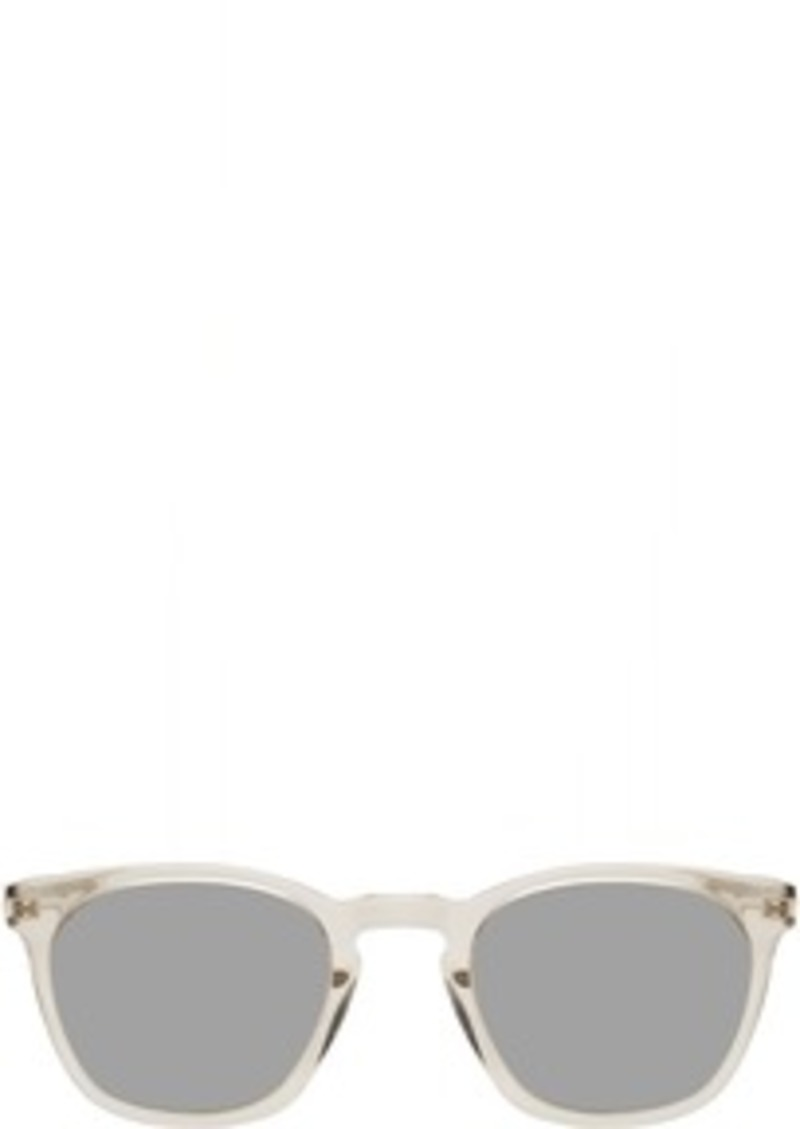 Yves Saint Laurent Transparent SL 28 Slim Sunglasses