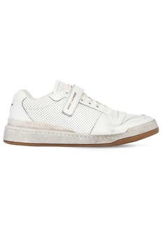 Yves Saint Laurent Travis Perforated Leather Sneakers