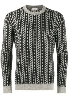 Yves Saint Laurent trompe l'oeil stripe sweater