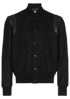 Yves Saint Laurent Varsity wool jacket