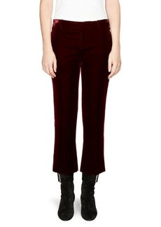 Saint Laurent Velvet Cropped Flare Pants
