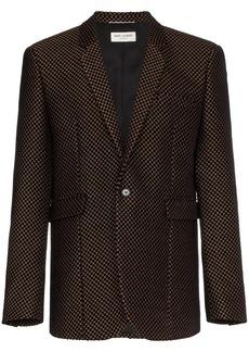 Yves Saint Laurent Velvet gold detail blazer