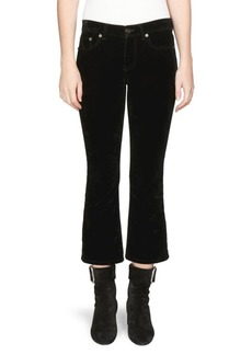Saint Laurent Velvet Kick Flare Pants