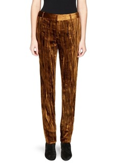 Saint Laurent Velvet Straight-Leg Pants