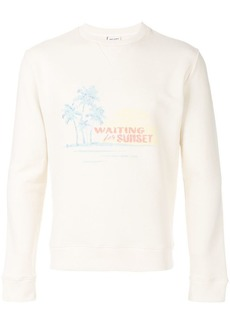 Yves Saint Laurent Waiting For Sunset embroidered sweatshirt