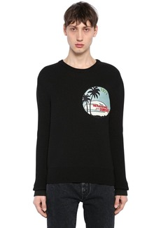 Yves Saint Laurent Waiting For Sunset Patch Wool Sweater