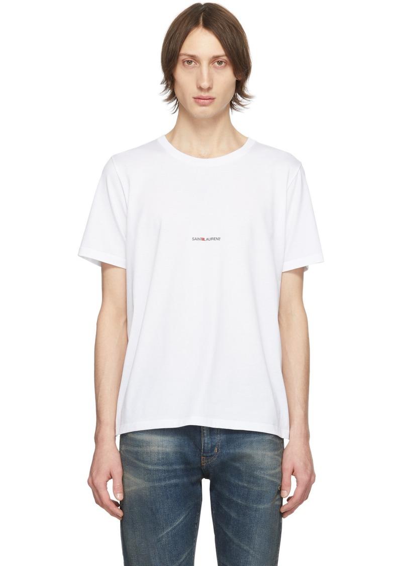 Yves Saint Laurent White Logo T-Shirt