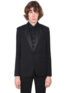 Yves Saint Laurent Wool Gabardine Tuxedo Jacket