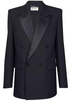 Yves Saint Laurent Wool Twill Smoking Jacket