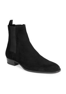 Yves Saint Laurent Wyatt Suede Chelsea Ankle Boots