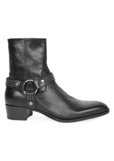Yves Saint Laurent Wyatt Studded Leather Boots