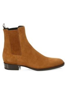 Yves Saint Laurent Wyatt Suede Chelsea Boots