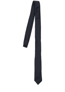 Yves Saint Laurent Ysl Monogram Silk Tie