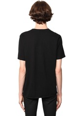 Yves Saint Laurent Ysl Mystique Print Cotton Jersey T-shirt