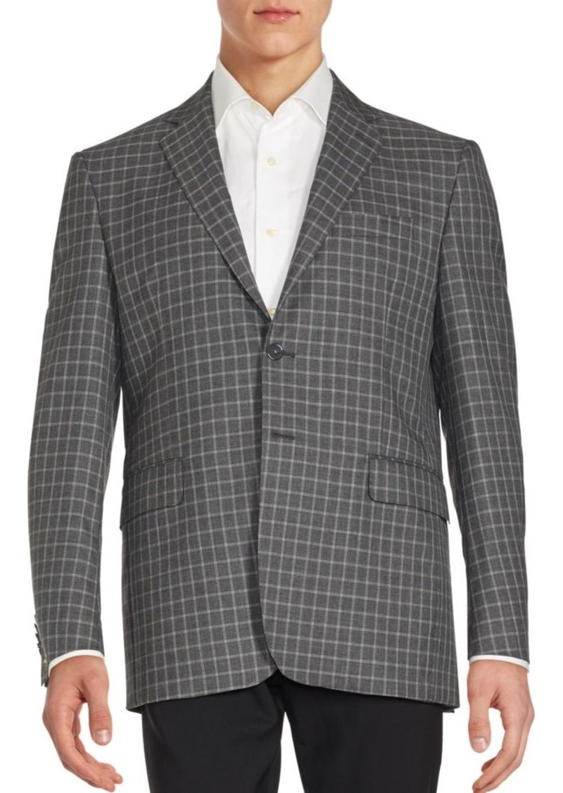Yves Saint Laurent Checked Long Sleeve Jacket
